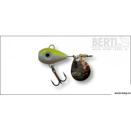 Berti Spinnertail Helic Nr.1 Culoare Alb Galben Fluo Paleta Nickel 11g