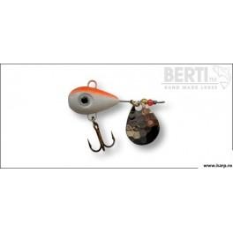 Berti Spinnertail Helic Nr.1 Culoare Alb Rosu Fluo Paleta Nickel 11g