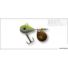 Berti Spinnertail Helic Nr.3 Culoare Alb Galben Fluo Paleta Nickel 17g