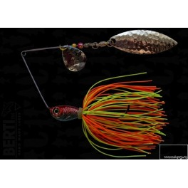 Bertilure Spinnerbait Colorado Nr.2 Salcie Nr.2 14g Skirt Siliconic Orange - Chartreuse