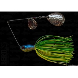 Bertilure Spinnerbait Colorado Nr.2 Colorado Deep Cup 14g Skirt Siliconic Lime - Chartreuse