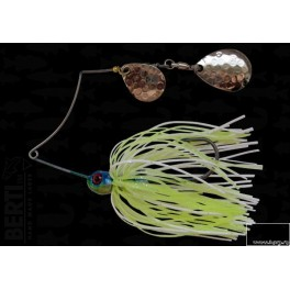 Bertilure Spinnerbait Shallow Killer Colorado-Colorado Deep Cup 7g Skirt Siliconic White - Chartreuse