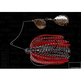 Bertilure Spinnerbait Shallow Killer Colorado-Colorado Deep Cup 7g Skirt Siliconic Alb/Negru - Rosu