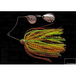 Bertilure Spinnerbait Shallow Killer Colorado-Colorado Deep Cup 7g Skirt Siliconic Orange/Negru - Chartreuse