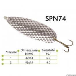 Lingurite oscilante Spn 74 Baracuda 6.5g