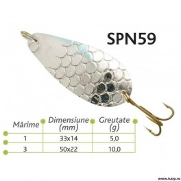 Lingurite oscilante Spn 59 Baracuda 5g
