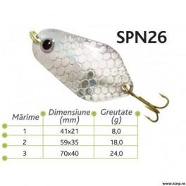 Lingurite oscilante Spn 26 Baracuda 8g