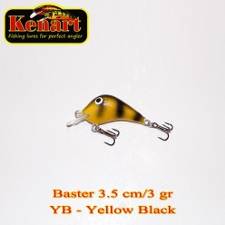KENART BASTER 3,5 CM - 3 GRAME   Yellow Black