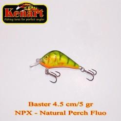 KENART BASTER 4,5 CM - 5 GRAME  Natural Perch Fluo