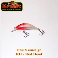 KENART FOX 5 CM - 5 GRAME Red Head