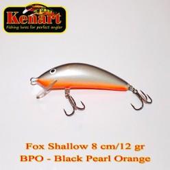 KENART FOX SHALLOW 8 CM - 12 GRAME Black Pearl Orange