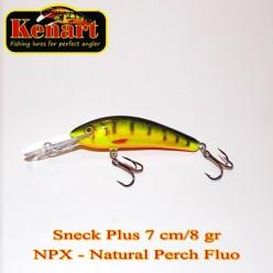KENART SNECK 7 CM - 8 GRAME Natural Perch Fluo