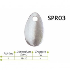 Lingurite rotative Spr 03 Baracuda 18x10mm