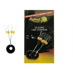 Opritoare Select Baits Silicone Line Stoppers 18buc/plic
