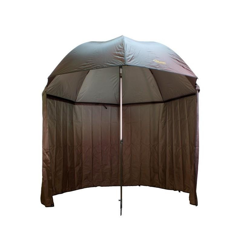 umbrela delphin cu perete lateral extins 250cmverde