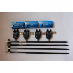 Set 4 Avertizori ( Senzori ) Digitali FL Model Negru Rezistent la Apa + 4 Tije Metalice Extra Calitate